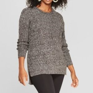 Maternity Traveling Cable Pullover